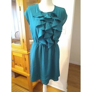 NWT Size M Francesca's Collections teal dress